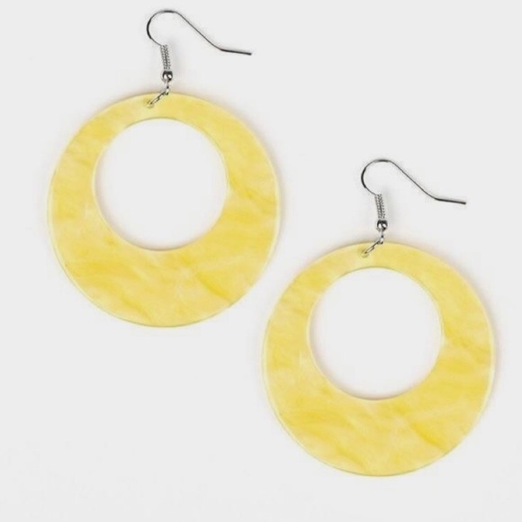 J45 Yellow acrylic earrings